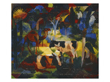 Landschaft Mit Kuehen Und Kamel  1914