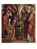 The Fathers of the Church Altarpiece Left Wing: Disputation of St Augustine  ca 1480
