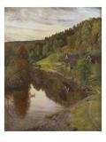 River Landscape in Eggedal  1890