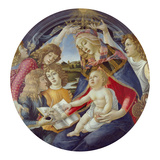 Mary with Child and Five Angels (Madonna Del Magnificat) Tondo  about 1481