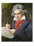 Portrait Ludwig Van Beethoven While Composing Missa Solemnis  Bonn