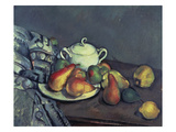 Still Life with Sugar Can  Pears and Tablecloth