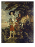 Charles I of England During a Hunting Excursion  about 1635