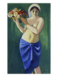 Woman Holding a Jardiniere  1910