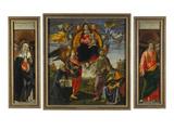 Parts of the Highaltar of S Maria Novella Florence: Katharina V Siena  Madonna with Child