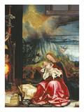Isenheimer Altar Zweite Schauseite  Mittelbild  Rechte Haelfte: die Jungfrau