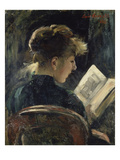 Young Woman Reading  1888