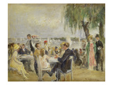 Garden Caf&#233; on the River Elbe  ca 1922