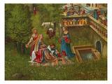 Susanna Im Bade Und die Steinigung Der Alten Detail: Badeszene Am Brunnen