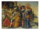 Elegant Musicians on a Terrace  1625