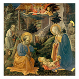 The Adoration of the Child with the Saints Joseph  Hilary  Jerome and Mary Magdalene  about 1455