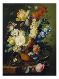 Flower Still Life with Bird's Nest  1785