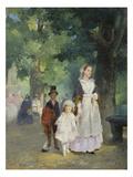 Spaziergang in Den Tuillerien  1855