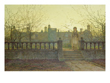 Lady Bountifulle Leaving a Retirement Home in the Evening Autumn Sun  1884