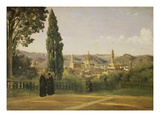 View of Florence from the Boboli Gardens  about 1835/40