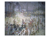 The Coronation of Tsar Stepan Dusan (1308-55) from the 'slav Epic'  1926