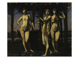 Triptych: the Hesperides  1884/1985 Central Panel: the Three Women
