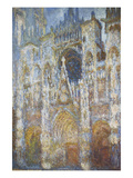 Rouen Cathedral  Morning Sunlight  Blue Harmony  1894