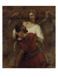 Jacob Wrestling with the Angel  about 1659/60