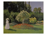 Lady in the Garden  1867