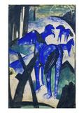 Die Mutterstute Der Blauen Pferde I  1913 Postkarte an Else Lasker-Schueler