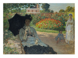 Camille Monet with Son and Nanny in the Garden  1873