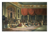 Sir Charles Warre Malet British Resident at Court of Poona  in 1790 Concluding a Treaty in Durbar