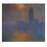 London  the Parlament the Sun Breaks Through the Fog  1904