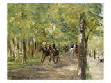 On Horseback in Berlin Tiergarten  1915/16