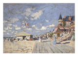 At the Beach of Trouville  1870