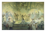 From Slav Epic: the Oath of Omladina under the Slavic Linden Tree  1928
