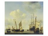 Warships at Amsterdam  ca 1658