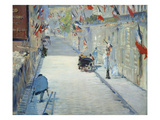 The Rue Mosnier in Paris Decorated with Flags  1878