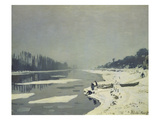 Ice on the Seine at Bougival (Undated)