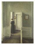 Frau in Einem Hellen Innenraum  1913