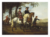 Landscape with Sportsmen Setting Out for the Hunt Circa Early 1650S
