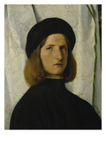 Portrait of a Young Man in Front of a White Curtain  about 1508