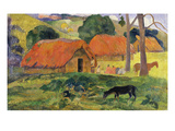 Dog in Front of Thatched Huts  1892
