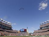 New England Patriots - Sept 16  2012: Patriots Flyover at Gillette Stadium