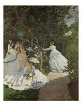 Women in the Garden  Ville D&#39;Avray  1867