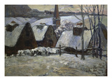 Breton Village in Winter  1894