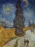 Country Road with Cypress and Star  1890