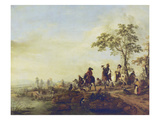 Falconers Return Home from the Hunt  about 1658-60