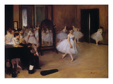 Dancing Class (Classe De Danse)  about 1871