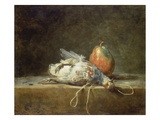 Still Life with Partridge and Pear  1748