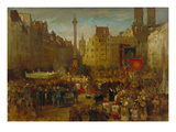 Feast of Corpus Christi Procession at the Marienplatz in Munich  1884