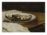 A Plate with Oysters  1884