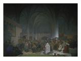 Master Jan Hus Preaching in the Bethlehem Chapel  1414 from the 'slav Epic'  1916