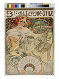 Poster Advertising &#39;Lefevre-Utile&#39; Biscuits  1896-97