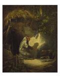 Hermit  Roasting a Chicken  1841